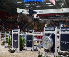 Switzerland's Romain Duguet and Quorida de Treho galloped to victory at the second leg of the Longines FEI World Cup™ Jumping 2015/2016 Western European League in Helsinki, Finland. Photo by FEI/Satu Pirinen