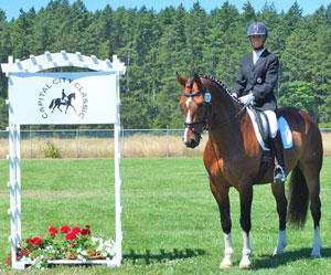 Allison Waller of Courtenay, BC was named the Dressage Canada Volunteer of the Month for October for her tremendous support of the Upper Vancouver Island dressage community. Photo by Linda Bates
