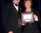"John ""JT"" Taylor of Mono, ON was named the 2015 Jump Canada Volunteer of the Year in recognition of his longstanding commitment and dedication to bettering the equestrian industry in Canada. He accepted the award from Jump Canada Chair Pamela Law during the Jump Canada Hall of Fame on Nov. 8 in Toronto, ON. Photo by Michelle C. Dunn"