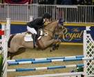Laura Robertson of Toronto,ON, claimed the $5,000 Royal PonyJumper Final, presented by William Tilford and Marion Cunningham of Marbill Hill Farm on Sunday, November 15, at the Royal Horse Show®. Photo by Ben Radvanyi Photography