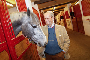 Leon Melchior, founder of the world-renowed Zangersheide Stud, who has passed away at the age of 88. Photo by FEI/Dirk Caremans