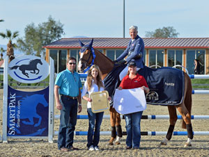 Rich Fellers and Flexible won the $25,000 SmartPak Grand Prix. Photo by ESI Photography