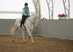 Luc and I have a relaxing ride in the arena.