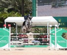 Erynn Ballard and Easy won the $20,000 Adequan® Young Jumper Seven-Year-Old Final at WEF. Photo by Sportfot