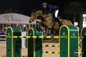Ben Maher and Sarena won thhe $500,000 Rolex Grand Prix CSI 5*. Photo by Sportfot