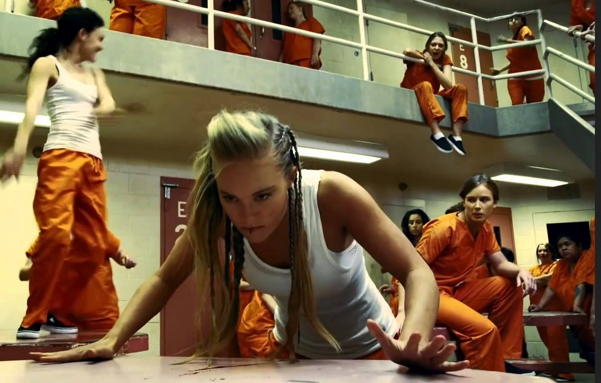 Danielle Chuchrun in the movie Riot.