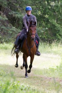 Me riding Hawk at the Chase finish line.