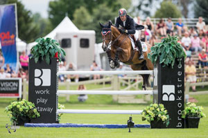 Ten-time Olympian Ian Millar and Teddy du Bosquetiau won the $50,000 Brookstreet Hotel Grand Prix on Saturday, July 16, at Wesley Clover Parks in Ottawa, ON. Photo by Ben Radvanyi Photography