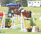 Jonathon Millar of Perth, ON, and Caprice won the 1.35m Open Jumpers on Wednesday, July 20, at the CSI2* Ottawa International Horse Show held at Wesley Clover Parks in Ottawa, ON. Photo by Jump Media