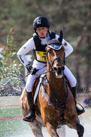 Michael Jung may have to ride Sam (pictured) or Rocana at the Rio Olympics, as his selected horse Takinou has come down with an infection. Eric Knoll/FEI photo