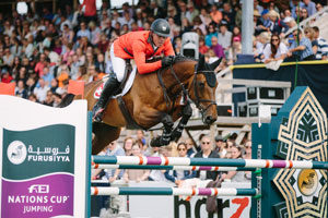 Paul Estermann and Castlefield Eclipse produced one of the three sensational double-clears that clinched victory for Switzerland at today's sixth leg of the Furusiyya FEI Nations Cup™ Jumping 2016 Europe Division 1 League in Falsterbo (SWE). (FEI/LOTTAPICTURES)