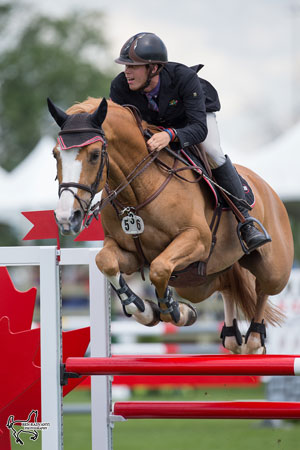 Calgary's Justin Prather and Beau Soleil raced to victory in the $7,500 Lynn Millar Memorial Speed Derby held Friday, July 15, at the Ottawa National Horse Show in Ottawa, ON. Photo by Ben Radvanyi Photography