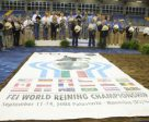 The Team Podium at the 2008 FEI World Reining Championships (Team Italy gold; Team U.S.A. silver; Team Germany bronze. Photo by FEI/ Andrea Bonaga