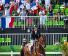 A crucial clear show jumping round from Astier Nicolas and Piaf de B'Neville clinched team gold for France in the Eventing Team Final at Deodoro today, the first gold medal of the Rio 2016 Games for France and only the second medal overall. Photo by Arnd Bronkhorst/FEI