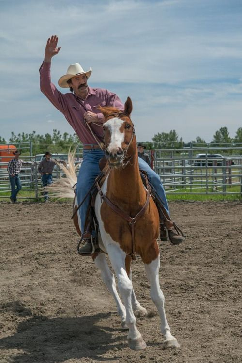 Grandpa Jack on horse in CBC Heartland - Shaun Johnston, actor rides horse