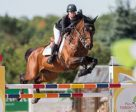 Nicole Walker of Aurora, ON, won the $86,000 CSI2* Caledon Cup - Phase Three, presented by HEP, Aviva Insurance, and Edge Mutual Insurance, riding Deko de Landetta Z on Sunday, September 25, at the CSI2* Canadian Show Jumping Tournament in Caledon, ON. Photo by Ben Radvanyi Photography