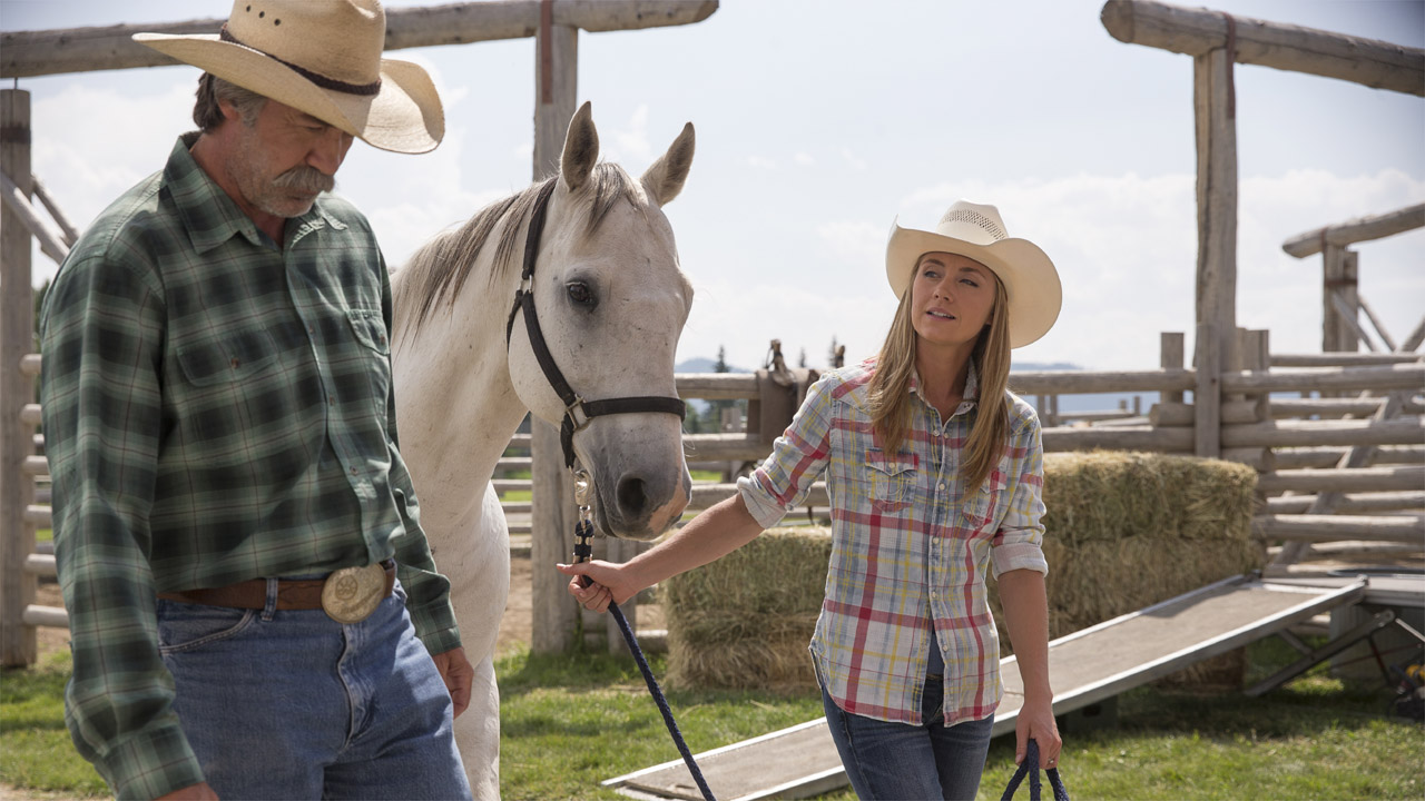 Grandpa Jack, Shaun Johnston working horses on Heartland