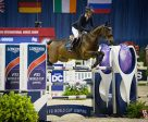 The United States' Lauren Hough and Ohlala capitalize on experience to win the $130,000 Longines FEI World Cup™ Jumping Washington. Photo by FEI/Anthony Trollope