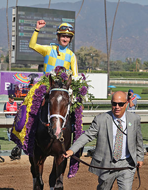 Classic Empire captured the Grade 2 $2-million Breeders' Cup Juvenile at the 33rd Breeders' Cup World Championships, at Santa Anita Park in Arcadia, California.