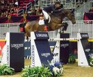 The United States' McLain Ward once again proves his dominance at The Royal Agricultural Winter Fair with yet another victory aboard HH Azur in the $130,270 Longines FEI World Cup™ Jumping Toronto. Photo by FEI/Anthony Trollope
