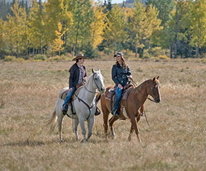 Michelle Morgan riding horse as Amy on CBC TV Show Heartland,