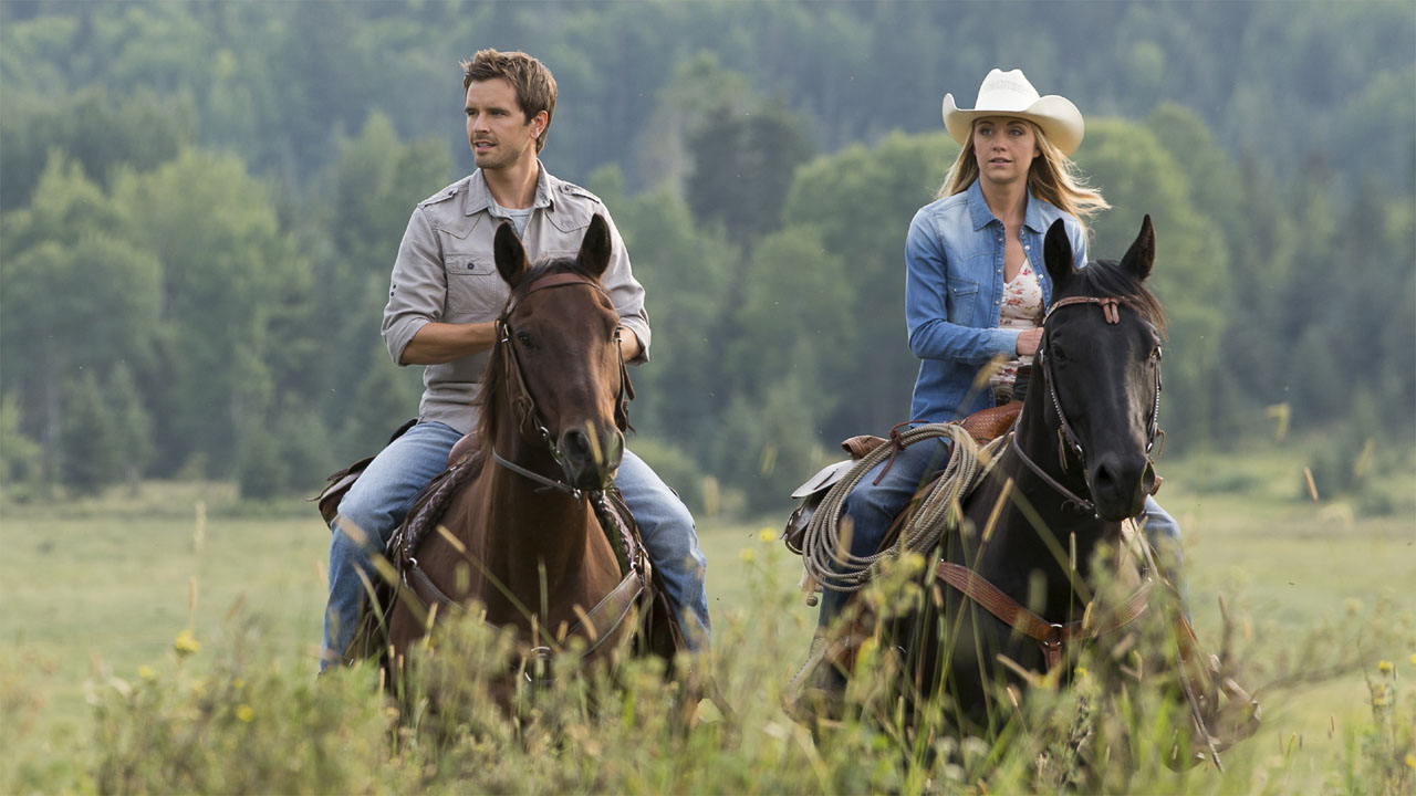 CBC Heart land, Graham Wardle as Ty Bordon on horseback
