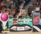 European individual silver medallist, Gregory Wathelet from Belgium, steered the lovely grey mare, Coree, to victory at the tenth leg of the Longines FEI World Cup™ Jumping 2016/2017 Western European League in Leipzig, Germany. Photo by Stefan Lafrentz/FEI