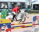 Boyd Martin and Welcome Shadow in the show jumping phase. Photo by Susan J Stickle