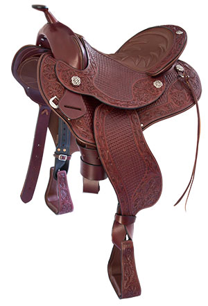 The 'Devin' Western/Trail Saddle by Schleese Saddlery.