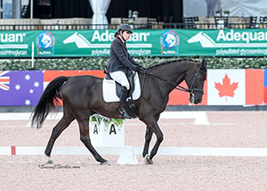 Canadian Paralympian, Jody Schloss of Toronto, ON earned back-to-back victories in the Grade I division aboard Lieutenant Lobin at the Adequan Global Dressage Festival (AGDF) CPEDI 3*, held Mar. 10-12 in Wellington, FL. Photo by Susan J. Stickle