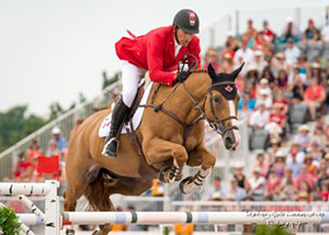 Yann Candele and Showgirl, owned by The Watermark Group, represented Canada at the 2014 Alltech FEI World Equestrian Games in Normandy, France, and led Canada to a team gold medal at the 2015 Pan American Games in front of a home crowd in Toronto, Canada. Photo by Starting Gate Communications
