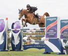 USA's Todd Minikus and Babalou top an 18-horse jump off to claim victory in the final leg of the Longines FEI World Cup™ Jumping 2016/2017 North American League. Photo by FEI/Debra Jamroz