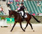 Jessica Phoenix (CAN) and Pavarotti danced their way into the lead after the first day of dressage at Rolex Kentucky. Michelle Dunn Photo
