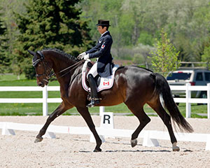 Six-time Olympian, Christilot Boylen of Loretto, ON earned back-to-back wins in the small tour aboard Rockylane, plus was presented with the CDI Leading Athlete Award at the CDI 3* Ottawa Dressage Festival, held May 18-21 in Ottawa, ON. Photo by Cealy Tetley