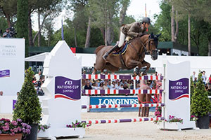 A double-clear from Alberto Zorzi and Fair Light van T Heike was key to an historic home victory for Team Italy at the FEI Nations Cup™ Jumping Europe Division 1 leg at Piazza di Siena, Rome. Photo by FEI/Richard Juilliart