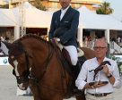 Simon Delestre and Chesall Zimequest with owner Benoît Zimmermann. Photo by Sportfot