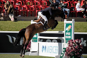 McLain Ward piloted HH Carlos to triumph in the Mercer Cup 1.45m at the Spruce Meadows Pan American. Photo by Spruce Meadows Media Services