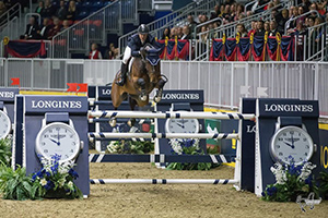 McLain Ward (USA) won the $130,000 Longines FEI World Cup™ Jumping Toronto aboard HH Azur at the 2016 Royal Horse Show in Toronto, ON. Photo by Ben Radvanyi Photography