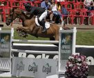 Yann Candele won the Cargill Cup aboard Chaventyno Pan American. Photo by Spruce Meadows Media Services