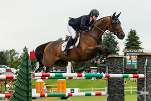 Canadian Olympian Beth Underhill of Schomberg, ON, and Count Me In won the $50,000 Brookstreet Grand Prix on Sunday, July 16, at the Ottawa National Horse Show in Ottawa, ON. Photo by Ben Radvanyi Photography