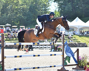 Beth Underhill and Count Me In were victorious in the Quebec Original CSI2* Classic at International Bromont. Photo by Tom von Kap-herr