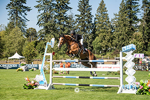 Eve Jobs and Venue D'Fees Des Hazalles won the $100,000 Reliable Rentals Grand Prix at Thunderbird Show Park. Photo by Moi Photography