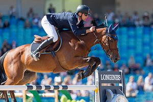 Super-cool Swede, Peder Fredricson, steered his Olympic silver medal winning horse H&M All In to victory on the opening day of Jumping at the FEI European Championships 2017 in Gothenburg (SWE). Photo by FEI/Claes Jakobsson