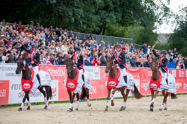 Thumbnail for Eventing team gold for Great Britain at Strzegom