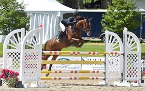 Mckayla Langmeier of East Granby, CT, won the $10,000 Show Jumping Hall of Fame Junior/Amateur-Owner Jumper Classic, presented by Miller & Associates, riding Durosa W on Sunday, August 13, during the final day of the 2017 Vermont Summer Festival in East Dorset, VT. Photo by Andrew Ryback Photography