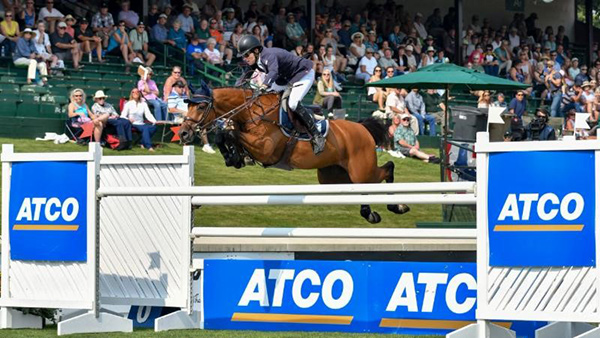 Conor Swail and GK Coco Chanel won the ATCO Founders Cup 1.50m at the Spruce Meadows Masters. Photo by Spruce Meadows Media Service