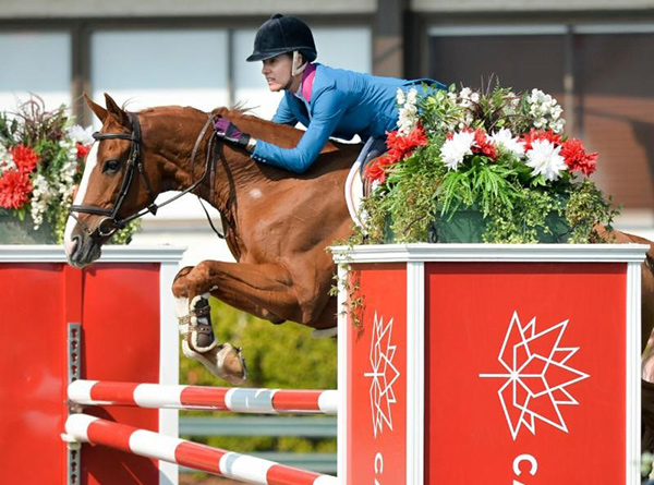 Portugal's Luciana Diniz won the TELUS Cup aboard Fit for Fun. Photo by Spruce Meadows Media Services