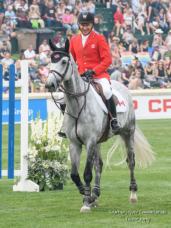 Mario Deslauriers and Westbrook had four faults in the first round, but went clear in the second, to contribute to Canada's fourth place finish in the $400,000 BMO Nations' Cup at the Spruce Meadows Masters. Photo by Starting Gate Communications