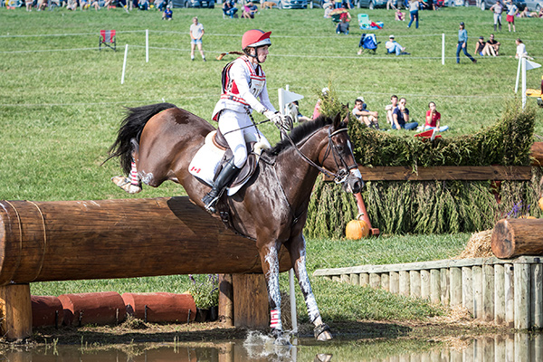 Selena O'Hanlon of Kingston, ON rode Foxwood High to a third place finish in the highly competitive CIC 3* division at the Plantation Field International Horse Trials, held Sept. 14-17, 2017 in Unionville, PA. Photo by RedBayPhotos.com