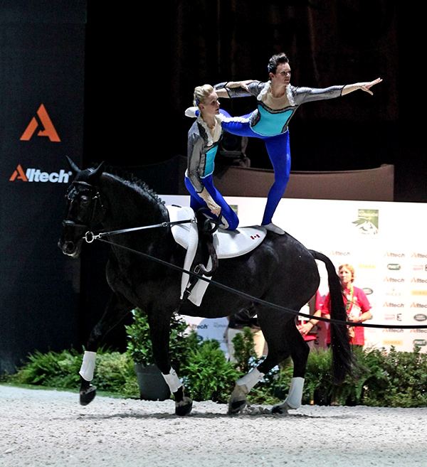 Jeanine and Angelique Van Der Sluijs competing at the Alltech FEI World Equestrian Games™ 2014.